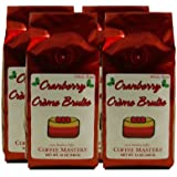 Holiday Cranberry Crème Brulee Coffee, Ground (Case of Four 12 ounce Valve Bags)