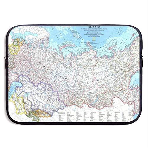 SWAKOJIJI Eastern Hemisphere High Latitude Map 13/15 Inch Laptop Sleeve Bag for MacBook Air 11 13 15 Pro 13.3 15.4 Portable Zipper Laptop Bag Tablet Bag,Diving Fabric,Waterproof Black