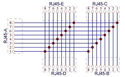 Electronics-Salon RJ45 8P8C 5 Jacks Splitter DIN Rail Mounted Interface Module.