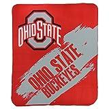 """NCAA Collegiate School Logo Fleece Blanket (Ohio State Buckeyes, 50"""" x 60"""")"""