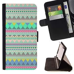 Momo Phone Case / Flip Funda de Cuero Case Cover - Líneas del patrón nativo trullo india - LG G3