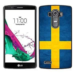 TopCaseStore / la caja del caucho duro de la cubierta de protección de la piel - Sweden Grunge Flag - LG G4