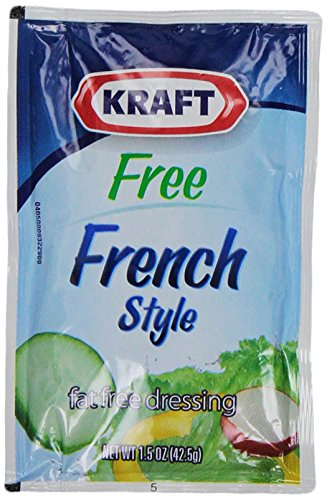 Kraft Fat Free French Salad Dressing Packet, 1.5 oz. (Single serve salad dressings) Pack of 60 Dressing Fat