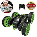 Remote Control Car, RC Stunt Car Radio Remote Control Racing Car Four Channel Double Sided 360 Degree Spins Stunt Actions Cool Styling Vehicle with LED Lights Gift Toy for Kids