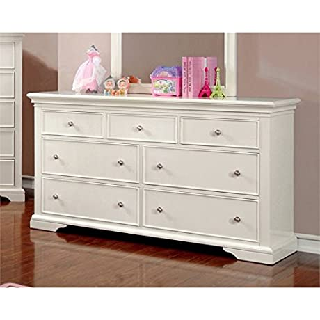 Furniture Of America Gillis 7 Drawer Dresser In White