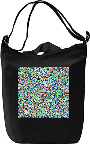 Colorful Texture Borsa Giornaliera Canvas Canvas Day Bag| 100% Premium Cotton Canvas| DTG Printing|