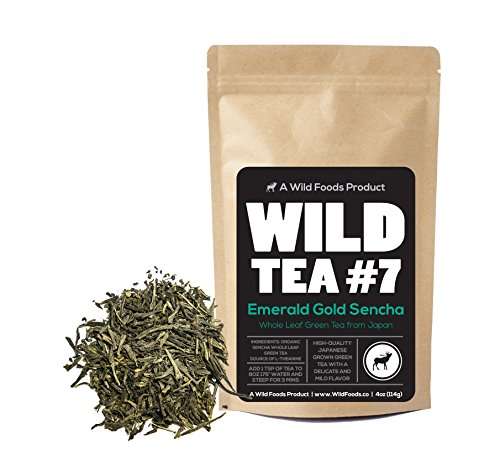 Sencha Green Tea, Wild Tea #7, Emerald Gold Sencha Loose Leaf Tea - Organically Grown (4 ounce)