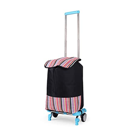bb286b3fc742 Full Folding Stainless Steel Shopping Cart Portable Luggage Small ...