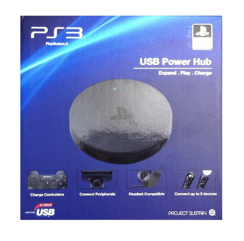 Price comparison product image 5-port USB Expansion Power Hub for PlayStation 3 and PS3 Slim