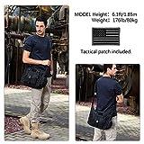 ArcEnCiel Tactical Messenger Bag Men Military MOLLE Sling Shoulder Pack Briefcase Assault Gear Handbags Utility Carry Satchel with Patch