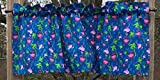 Tropical Pink Flamingo with Green Palm Trees on Blue Birds Flamingos Handcrafted Curtain Valance Review