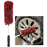 Metal Free Synthetic Wool Wheel Brush, Tire Woolies, Soft, Dense Fibers Clean Wheels Safely