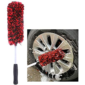 Blue and Grey Viking Car Care 534001 Premium Metal Free Wheel and Rim Brush 2 Inches x 14.3 Inches