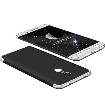 Tmusik Funda Xiaomi Redmi Note 4 Versión Global/Redmi Note 4X, 360 Grados Integral Carcasa Cuerpo Completo Caso Cubierta, 3 en 1 Híbrido Anti-Choque ...