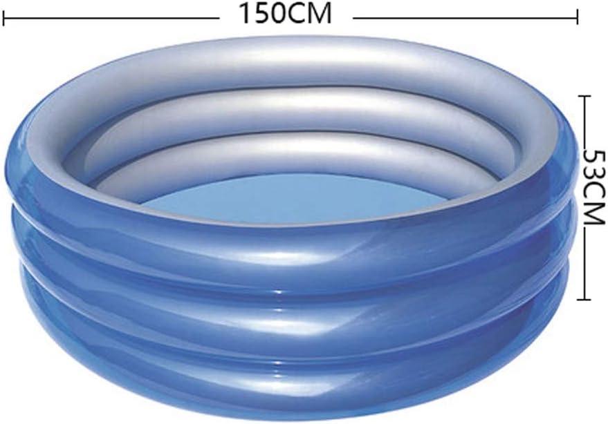 Piscina Inflable, Interior y Patio, Piscina para bebés y niños, Piscina Inflable oceánica, fácil de Plegar y preservar el Calor, bañera Neonatal, Azul, Tres tamaños (Color : L): Amazon.es: Deportes y aire