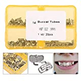 Delaman Tubo de Ortodoncia 20 Set/Bag Dental Orthodontic Tube 1st Molar Roth Solo Tubo Bucal