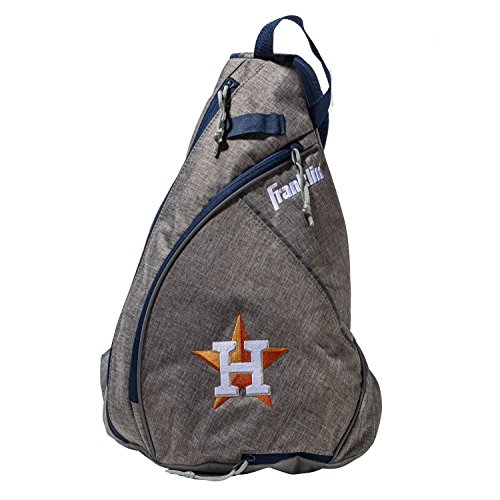 Bag Houston Astros - Franklin Sports Houston Astros Slingback Baseball Crossbody Bag - Shoulder Bag w/Embroidered Logos - MLB Official Licensed Product