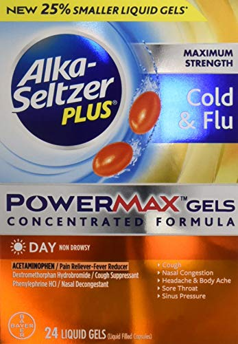 (Alka-seltzer Plus Maximum Strength Cold & Flu Power Max Gels Day, 24)