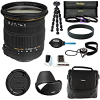 Sigma 17-50MM F2.8 EX DC OS HSM Zoom Lens for Nikon Cameras DX (583306) w/ Bundle