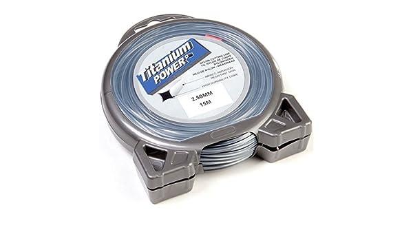 Hilo Desbrozadora Titanium 2,5 mm x 15 M. Cuadrado ...