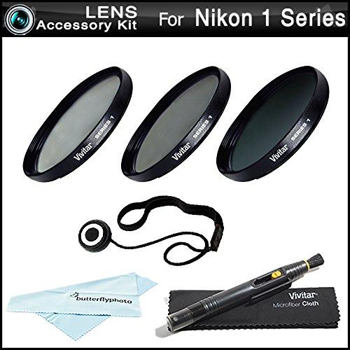 40.5mm Filter Kit For Nikon 1 J1, Nikon 1 V1, Nikon 1 J2, Nikon 1 J4, Nikon 1 S2 Mirrorless Digital Camera (That Use 10-30mm, 30-110mm, 10mm Lenses) Includes 40.5mm 3PC Filter Kit (UV, CPL, FLD)+ More by ButterflyPhoto
