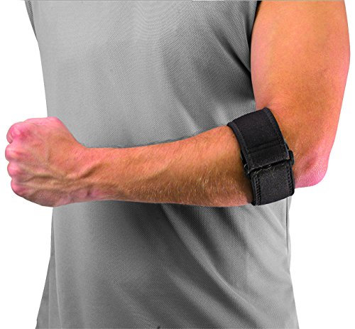 Mueller Tennis Elbow W/Gel Pad, One Size Fits Most, 1-Count Package (Mueller Elbow Support)