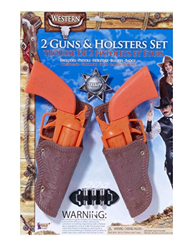Forum Novelties Western Cowboy 2 Pistol and Holster Costume Accessory Set, Child -
