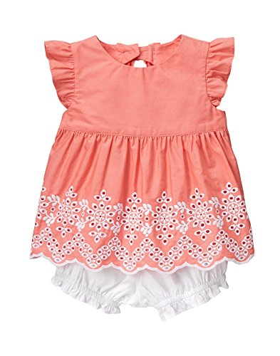 Gymboree Toddler Baby Girls 2-Piece Bubble Play Set, Peppy Orange Glow, 6-12 mo from Gymboree