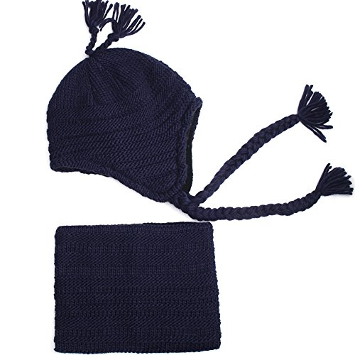 Toddler Winter Hat Scarf Set Boys Girls Fleece Lined Knit Beanie Kids Hat with Earflap ()