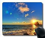 sunset summer scenes Custom Oblong Mouse Pad Rectangle Gaming Rubber Mousepad -UCFO0707L030
