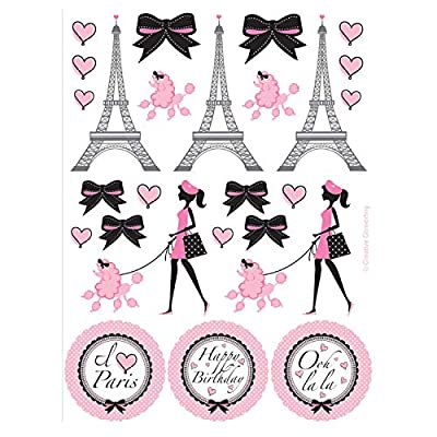 Creative Converting 041184 Party in Paris Stickers, 4 count (Pack of 1): Kitchen & Dining