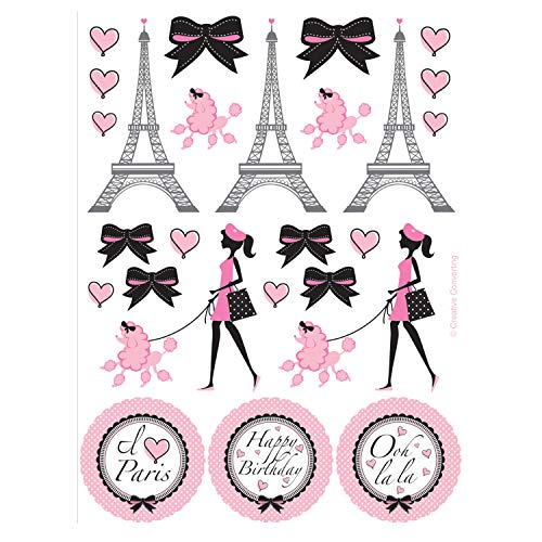 Paris Stickers - Creative Converting 041184 Party Supplies, 6