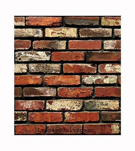 Univocean Modern Brick Wall 3D Wall Poster, Wallpaper, Wall Sticker Home Decor Stickers for bedrooms, Living Room, Hall, Kids Room, Play Room