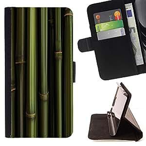 BullDog Case - FOR/LG G3 / - / bamboo green wallpaper nature panda foof /- Monedero de cuero de la PU Llevar cubierta de la caja con el ID Credit Card Slots Flip funda de cuer