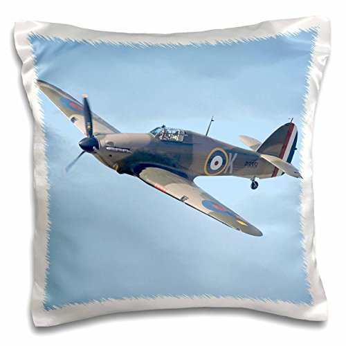 - 3dRose Hawker Hurricane, British and allied WWII Fighter Plane-AU02 DWA6007 - David Wall - Pillow Case, 16 by 16-inch (pc_76037_1)