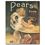 Vintage Pears Soap Ad Advertisement Bathroom Wall Decor Art Print Poster (8x10)