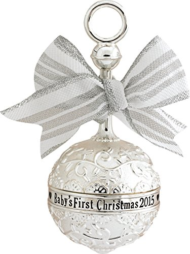 2015 Baby's First Christmas Rattle Carlton Ornament by Carlton (Christmas First Ornament Rattle)
