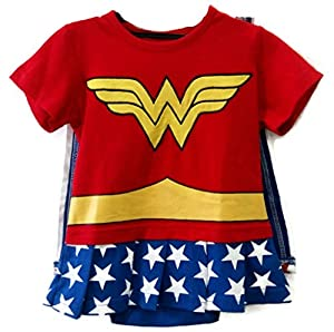 Rush Dance One Piece Super Hero Baby Wonder Baby Woman Romper Onesie Suit Cape