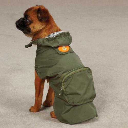 East Side Collection ZM3589 10 14 Monkey Business Stowaway Jacket for Dogs, X-Small, Tiff