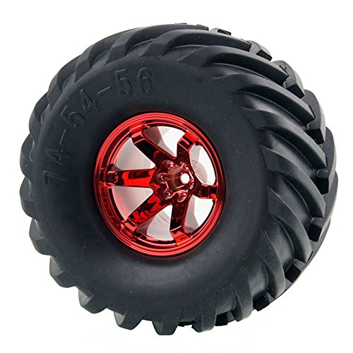 LAFEINA 4PCS 1:10 Wheel and Tire Set for 1/10 RC Monster Truck Traxxas HIMOTO HSP HPI Tamiya Kyosho (Himoto Rc Truck)