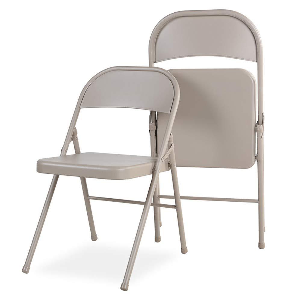 31b81ef580 Folding Chair Metal Folding Chair Fashion Folding Chair Steel Chair Writing  Outdoor Folding Chair 40×40x43CM,Light Coffee Colore MINMINA Metal ...