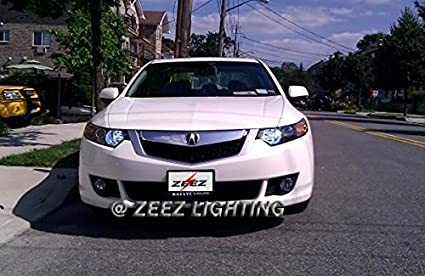 ZEEZ DRL LED High Beam Daytime Running Light DRL Conversion Kit w// 6000K H7 Hi-B Bulbs