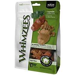 Paragon Whimzees Alligator Dental Treat for Small Dogs, 24 Per Bag