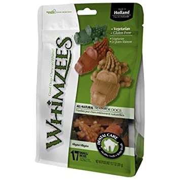 Whimzees ALLIGATOR Dental Care Treats All Natural Dogs ...