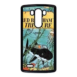 TinTin cartoon LG G3 Cell Phone Case Black JR5203566