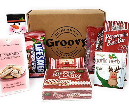 Christmas Favorites Gift Basket - Christmas Candy, Chocolate, Peppermint Bark, Lifesavers & Holiday Favorites and More! Perfect Stocking Stuffers