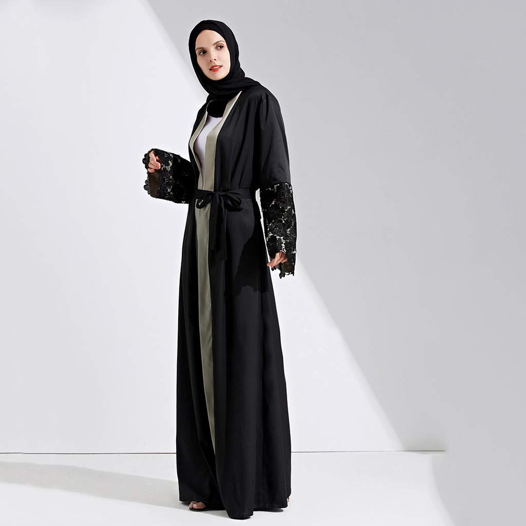 Quality Symbol Of The Brand Muslim Dress Embroidery Abaya Dubai Kaftan Flowers Lace Cardigan Long Robe Kimono Ramadan Arabic Islamic Prayer Clothing Excellent In