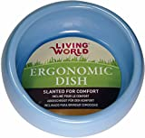 Living World Ergonomic Dish, Blue, Small