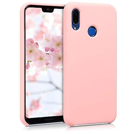 kwmobile Funda para Huawei P20 Lite - Carcasa de TPU para teléfono móvil - Cover trasero en rosa oro mate