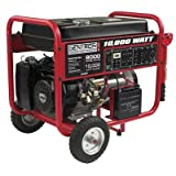 Gentron Portable Gas Generator with Electric Push Start, 8,000...